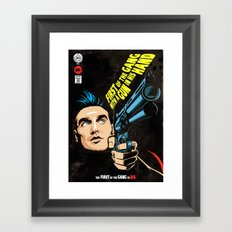 First of the Gang with a Gun in his Hand Framed Art Print