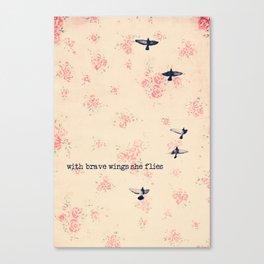 she flies Canvas Print