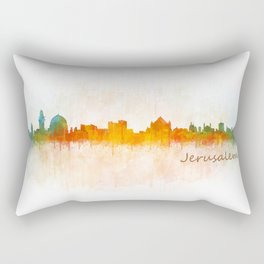 Jerusalem City Skyline Hq v1 Rectangular Pillow