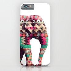 Whimsical Aztec Elephant Pink Turquoise Geometric iPhone 6 Slim Case