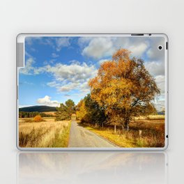 Autumn Splendor Yellow Take the Slow Road Laptop & iPad Skin