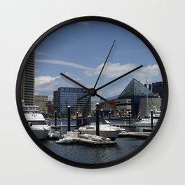 Harbor boats Wall Clock
