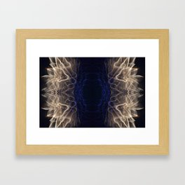 the eye of the firework Framed Art Print