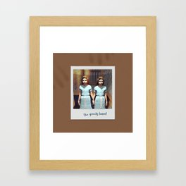 The greedy twins! Framed Art Print