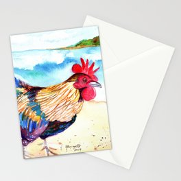 Rooster at the Beach Stationery Cards