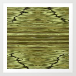 Abstraction Serenity in Pinewood Art Print