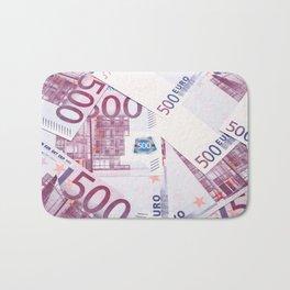 500 Euros bills Bath Mat