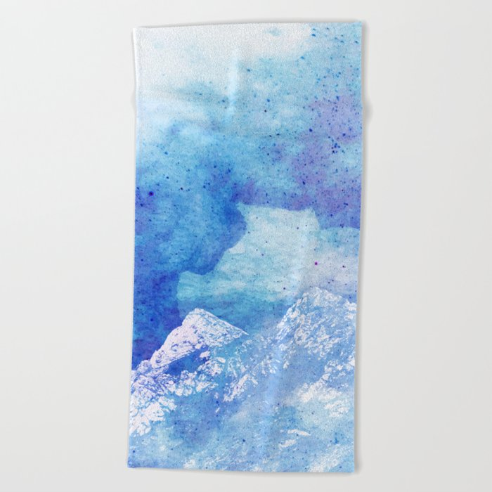 Snowy Mountain #society6 #decor #buyart Beach Towel