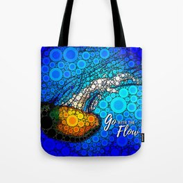 Ocean jellyfish photo bubble art | Go with the flow Tote Bag