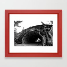 Into the Tunnels Framed Art Print