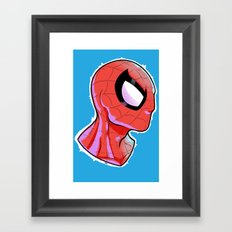 The Amazing Spider-Bust Framed Art Print