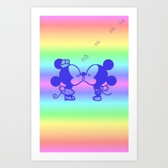 M&M Kiss Art Print