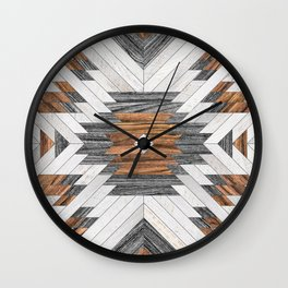 Urban Tribal Pattern No.8 - Aztec - Wood Wall Clock