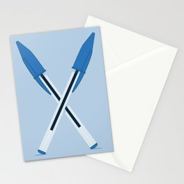 Mightier than the Sword - Blue Stationery Cards