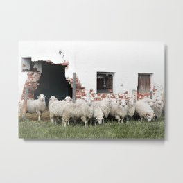 Welcome to the Flock Metal Print