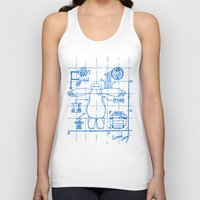 blueprint Tank Tops featuring Baymax Blueprint by SamyyChang