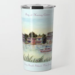 Bay at Harvey Cedars, Long Beach Island, New Jersey, Jersey Shore, fishing boats, Travel Mug