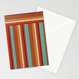 70s Retro Stripes Pattern Stationery Cards