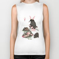 easter Biker Tanks featuring Crow Serie :: Easter Crow by Leslie Tychsem