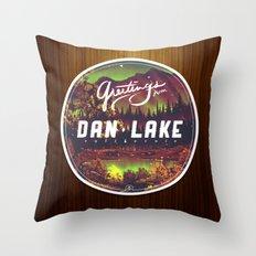 Greetings from Dan Lake CA Throw Pillow