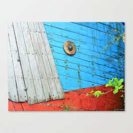 Abandoned Blue Canvas Print
