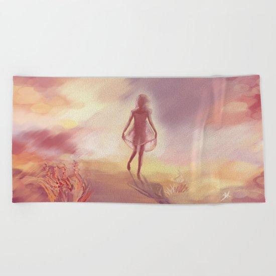 Sunny girl Beach Towel
