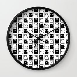 A Chess of Cats Wall Clock