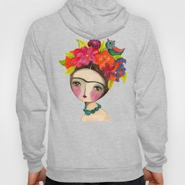 Frida And The Bird In Her Hair Hoody