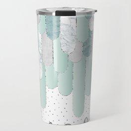 Graphic Art Feathers WILD & FREE SPIRIT | mint Travel Mug