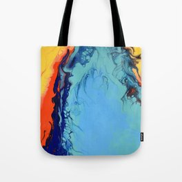 Colorful Celebration 2 Abstract Modern Fluid art Tote Bag
