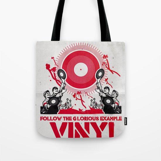 Vinyl Revolution Tote Bag