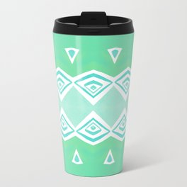 Geo Triangle Sea Green 2 Travel Mug