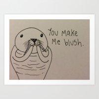Crushin' Blushin' Art Print