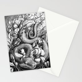 Elfes and snake / Michelle S. Have Stationery Cards
