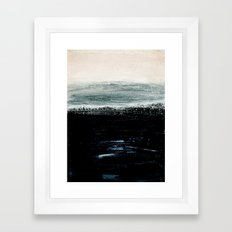 abstract minimalist landscape 3 Framed Art Print