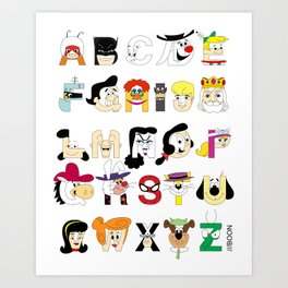 Child of the 60s Alphabet Art Print