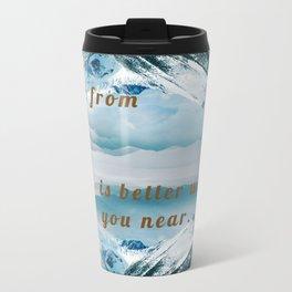 Mountains Postcard Metal Travel Mug