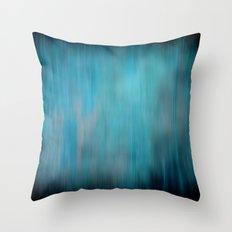 Blue Streaks Throw Pillow