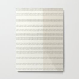 Minimal Abstract Lines On Neutral Watercolor Metal Print
