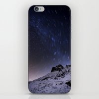 night sky iPhone & iPod Skins featuring Night sky by Mila Pechenyakova