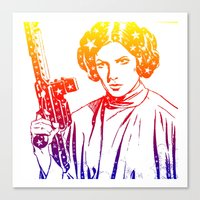 princess leia Canvas Prints featuring Princess Leia by mchlsrr