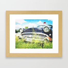 Cherries and Berries {Historic Cop Car} 1950's Buick  Framed Art Print