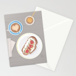 Fig toast Stationery Cards