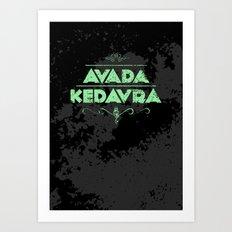 Harry Potter Curses: Avada Kedavra Art Print