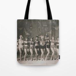 African American 1920's NYC Chorus Line Tote Bag