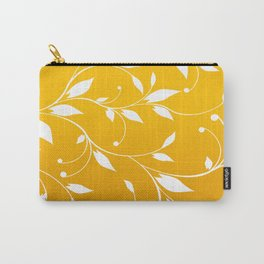 FLOWERY VINES | yellow white Carry-All Pouch