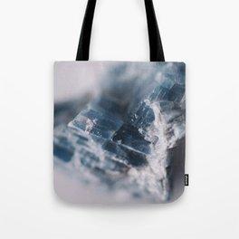 Blue Raw  Kyanite Crystal Tote Bag