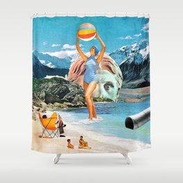 Poseidon in Love Shower Curtain