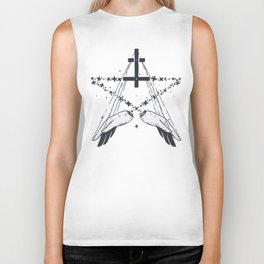 Idle hands are the devil's playthings Biker Tank