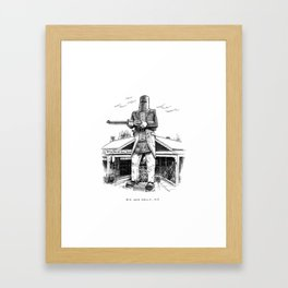Big Ned Kelly, VIC Framed Art Print